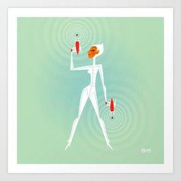 Space Girl 2004 Art Print