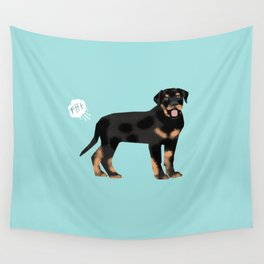 rottweiler funny farting dog breed pure breed pet gifts Wall Tapestry