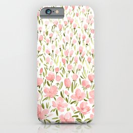 Field of pink flowers iPhone Case