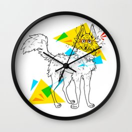 Maned wolf Wall Clock