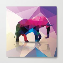 Geometric elephant Metal Print