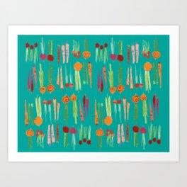 Root Veggies Art Print