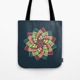 Red Yellow Blue Mandala Petals Tote Bag