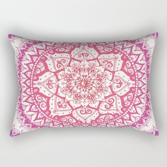 Yin Yang Mandala in Tropical Sunset Rectangular Pillow