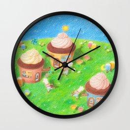 Cupcake village Wall Clock