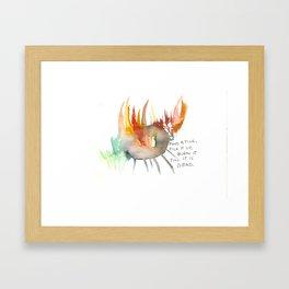 Find a Tick Framed Art Print