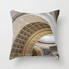 Wisconsin Capitol Building Arches And Angles Throw Pillow