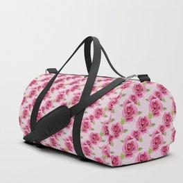 Watercolour Roses - Pink Bg Duffle Bag