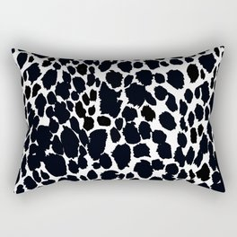ANIMAL PRINT CHEETAH #5 BLACK AND WHITE PATTERN Rectangular Pillow