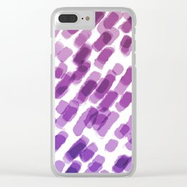 Purple Watercolor Brush Strokes Abdtraction Clear iPhone Case