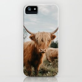 Highland Cow In The Country iPhone Case