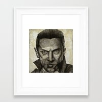 dracula Framed Art Prints featuring Dracula by Colunga-Art