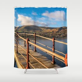 Padarn Lake Footbridge Shower Curtain