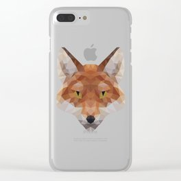 Polygonal Fox Clear iPhone Case