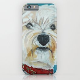 Jesse the Beautiful West Highland White Terrier Dog Portrait iPhone Case