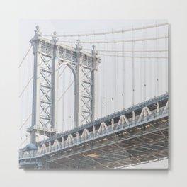 Manhattan Bridge - NYC Photography Metal Print