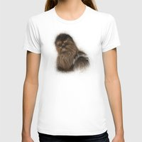 chewbacca T-shirts featuring Chewbacca by KitschyPopShop