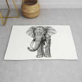 Ornate Elephant Rug