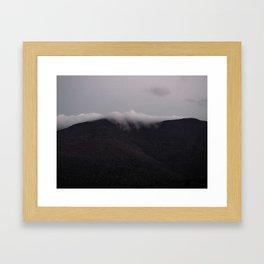 Sundown Mountain Mist in the Catskills Framed Art Print
