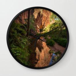 Coyote Gulch Canyon Reflection - Utah Wall Clock