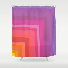 Vivid Vibrant Geometric Rainbow Shower Curtain