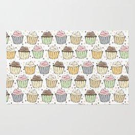 Cupcake Love Pattern -Food Pattern Rug