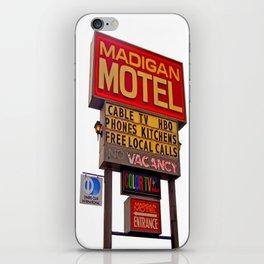 Nostalgic motel sign iPhone Skin