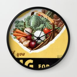 Dig For Victory Wall Clock