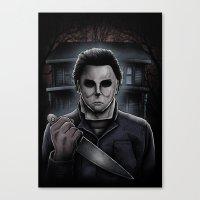 michael myers Canvas Prints featuring Halloween Michael Myers by Matt Mattei