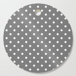 Grey & White Polka Dots Cutting Board