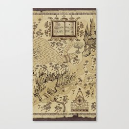 The Wizard world of Hogwarts Canvas Print