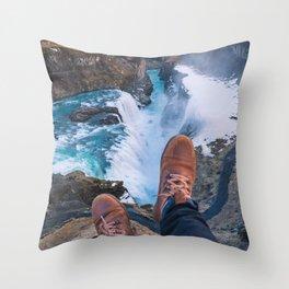 Edge of Gullfoss Throw Pillow