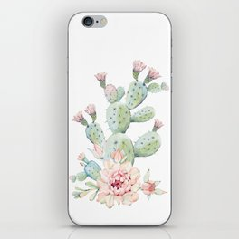 Cactus 3 White #society6 #buyart iPhone Skin