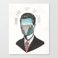 dale cooper Canvas Prints featuring Agent Dale Cooper by Ryan M Whiteley
