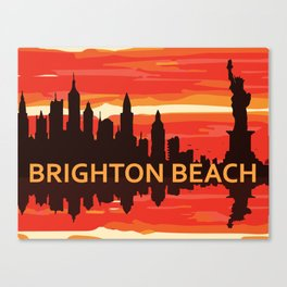 Brighton Beach - New York. Canvas Print