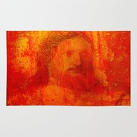 jesus Area & Throw Rugs featuring Jesus by Joe Ganech