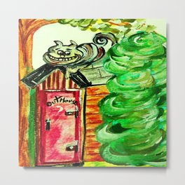 Outhouse Sentinel Metal Print