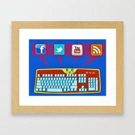 The keyboard conversation Framed Art Print