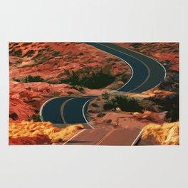 A Winding Road - Arizona USA Rug