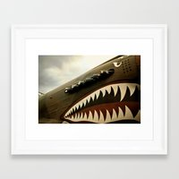 jaws Framed Art Prints featuring JAWS by MOREGUINNESS