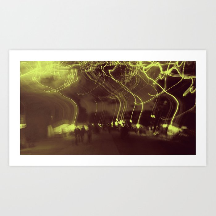 """Lights Go Walking"" Art Print"