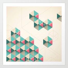 Empty cubes Art Print