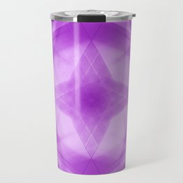 Vintage triangular strokes of intersecting sharp lines with fuchsia triangles and a star. Travel Mug