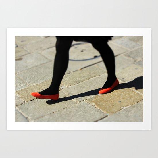 The red ballerinas Art Print