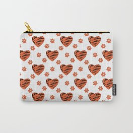 Hearts on a white background. Carry-All Pouch