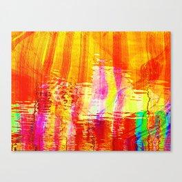 Burnt orange reflection on Lagoon Canvas Print