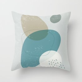Abstract Stones in Blue No. 4 Throw Pillow