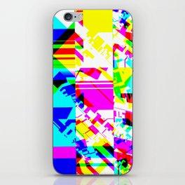 Glitch geometric pattern design artwork iPhone Skin