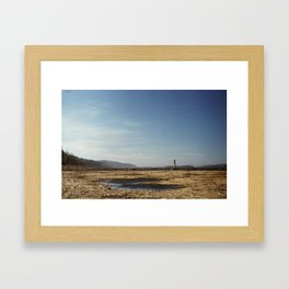 Rooster Rock Framed Art Print