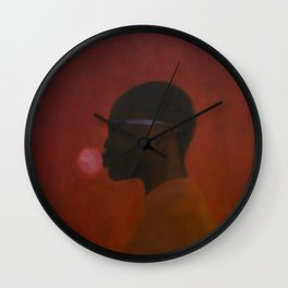 Red umbra Wall Clock